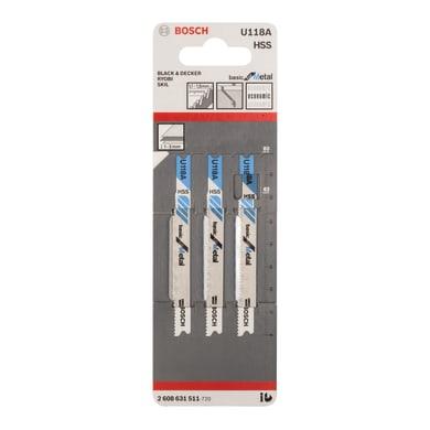 Set di 3 lame BOSCH in acciaio L 62 mm