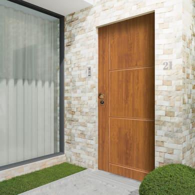 Porta blindata Idro golden oak L 90 x H 210 cm destra