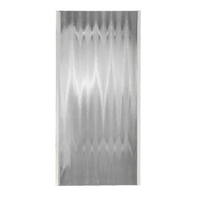 Lato fisso Plumin 70 cm, H 185 cm in vetro temprato, spessore 3 mm piumato bianco