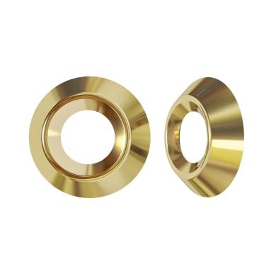 Coprivite STANDERS Tondo in acciaio giallo / dorato 30 pezzi