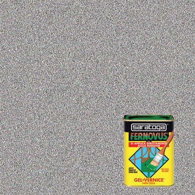 Smalto  antiruggine SARATOGA Fernovus grigio peltro 0.75 L
