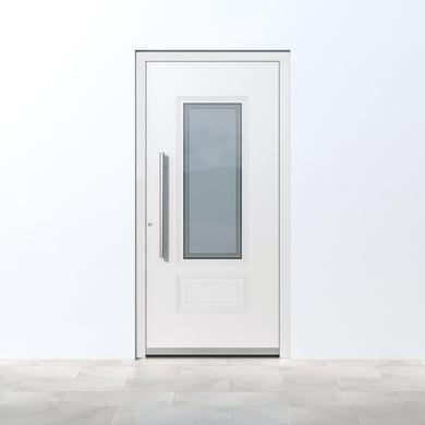 Portoncino d'ingresso QT80 bianco L 80 x H 210 cm destra