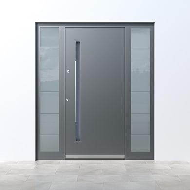 Portoncino d'ingresso QE10 grigio L 160 x H 210 cm sinistra