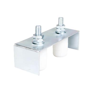 Piastra guida regolabile in acciaio x H 4.5 cm