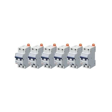 Interruttore magnetotermico differenziale GEWISS 1 polo 16A 4.5kA 30mA AC 2 moduli 230V