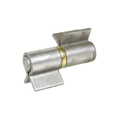 Cerniera in acciaio galvanizzato cromato L 120 x H 28 mm