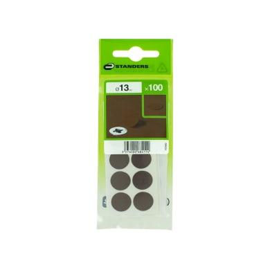 Coprivite STANDERS Tondo in plastica marrone Ø 13 mm 100 pezzi