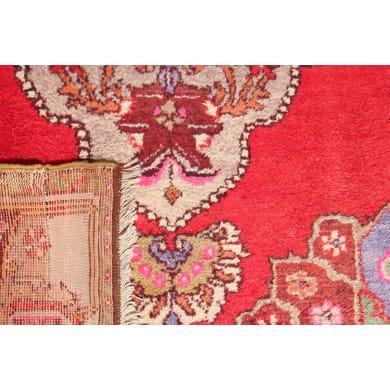 Tappeto Anatolian patchwork in lana, rosso, 60x200 cm