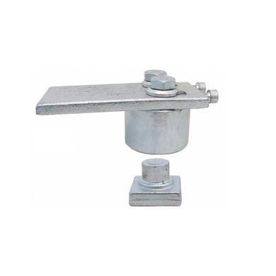 Cardine da avvitare in acciaio x H 7 cm