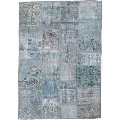 Tappeto Anatolian patchwork in lana, grigio, 60x200