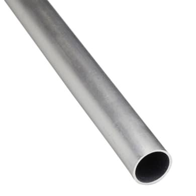 Profilo tubo tondo STANDERS in alluminio 1 m x 0.8 cm grigio