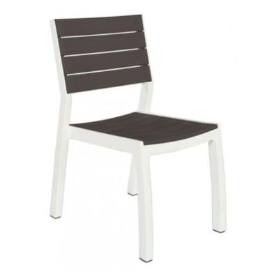 Sedia da giardino senza cuscino in resina iniettata Harmony colore bianco/grigio