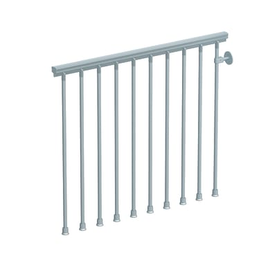 Kit balaustra FONTANOT Steel Zink in acciaio L 120 x H 100 cm grigio