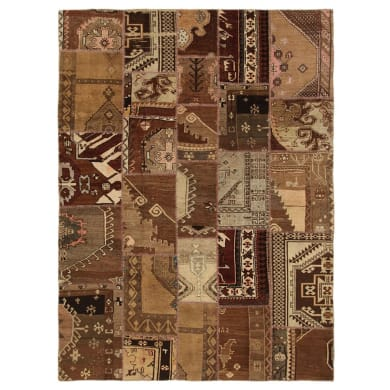 Tappeto Anatolian patchwork in lana, marrone, 200x300 cm