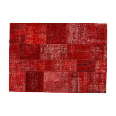 Tappeto Anatolian patchwork in lana, rosso, 300x400 cm