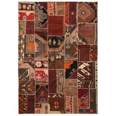 Tappeto Anatolian patchwork in lana, multicolor, 140x200