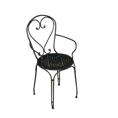 Sedia in ferro Stresa colore nero