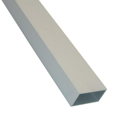 Profilo tubo rettangolare STANDERS in alluminio 1 m x 3 cm