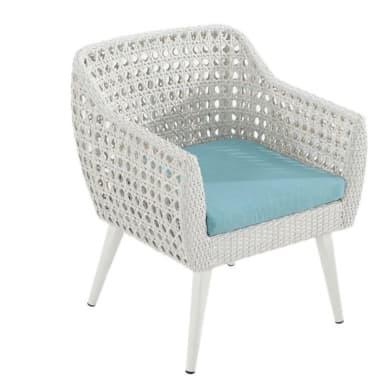 Poltrona da giardino con cuscino  in alluminio Voyage colore bianco