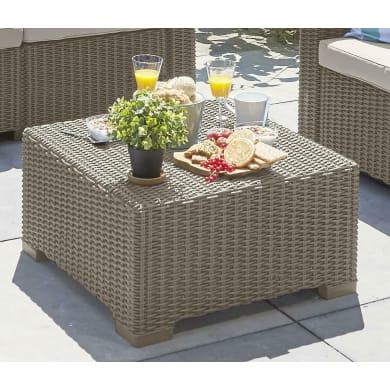 Tavolino da giardino quadrata California KETER con piano in resina x P 68 cm