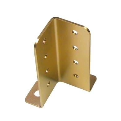 Supporto per palo Angolare in acciaio L 4.5x H 13