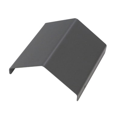 Terminale per colonna Copripilastro in acciaio grigio H 4.1 cm