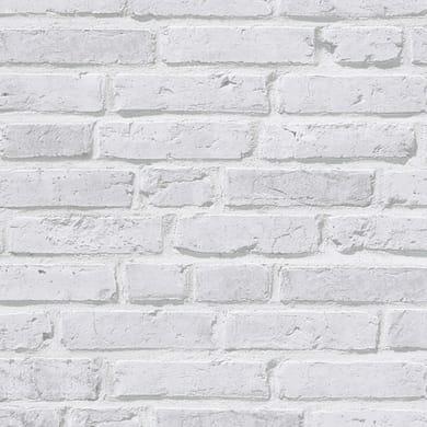 Carta da parati Mattoni listello bianco