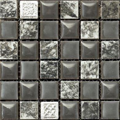 Mosaico Campione Freedom Grey H 15 x L 15 cm grigio/argento