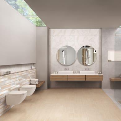 Piastrella da pavimento Remix marble 30 x 60 cm sp. 7.4 mm PEI 4/5 bianco