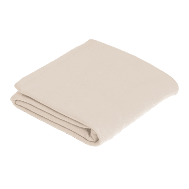 Plaid in 100% poliestere Fleece, beige, 120x 150 cm