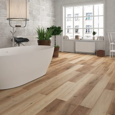 Pavimento laminato H2O Oak Sp 8 mm beige