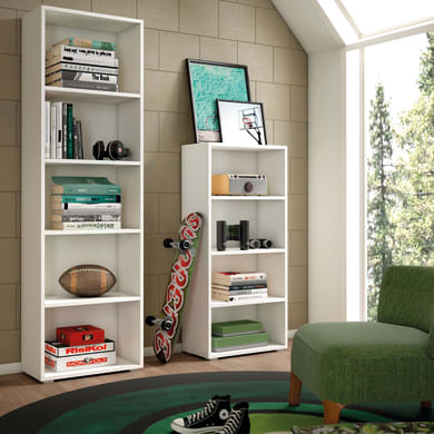 Libreria 3 ripiani L 60 x P 30 x H 130 cm bianco