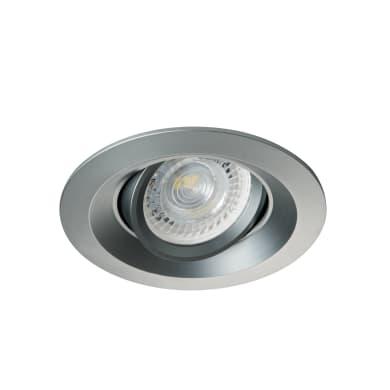 Faretto da incasso Colie grigio, in alluminio, GU10 IP20