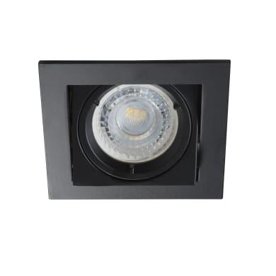 Faretto da incasso Alren nero, in alluminio, GU10 IP20