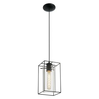 Lampadario Moderno Loncino nero in acciaio inossidabile, L. 110.0 cm, EGLO