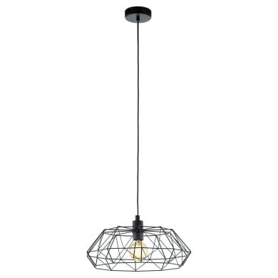 Lampadario Moderno Carlton 2 nero in acciaio inossidabile, L. 110.0 cm, EGLO