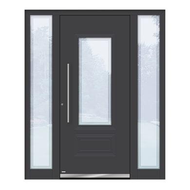 Portoncino d'ingresso QT80 grigio L 170 x H 210 cm sinistra