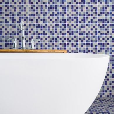 Mosaico Blu Chiffon H 31.8 x L 31.8 cm blu