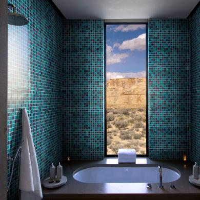 Mosaico Abyss20 H 31.8 x L 31.8 cm blu/acquamarina