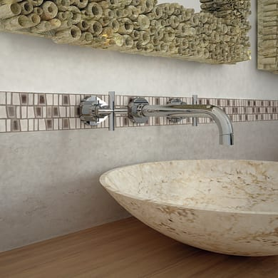 Mosaico Murini H 31 x L 32 cm marrone/beige