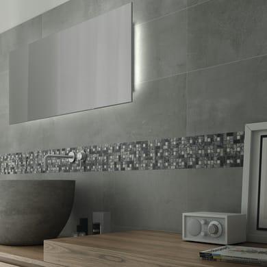 Mosaico Nido Pietra Grigio H 30.5 x L 30.5 cm bianco/grigio