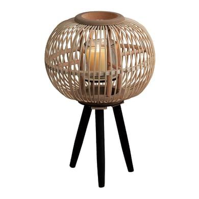 Portacandela color bamboo naturale H 50 cm,
