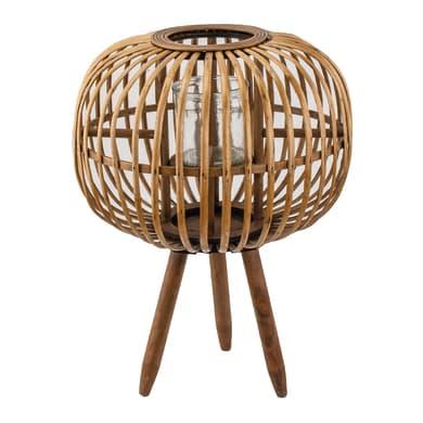 Portacandela color bamboo naturale H 48 cm,Ø 36 cm