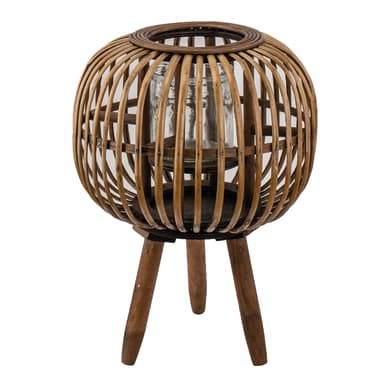 Portacandela color bamboo naturale H 40 cm,Ø 28 cm