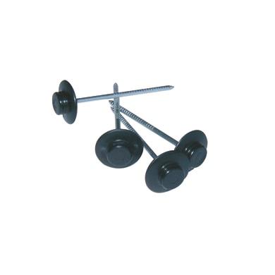 Chiodo ONDULINE in acciaio H 6 cm Ø 0.3 cm nero , 50 pezzi