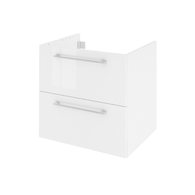 Mobile lavabo L 60 x P 48 x H 58 cm in agglomerato bianco