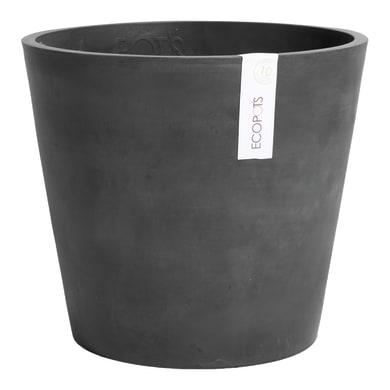 Barattolo Amsterdam ECOPOT'S in composito colore dark grey H 35 cm, Ø 40 cm