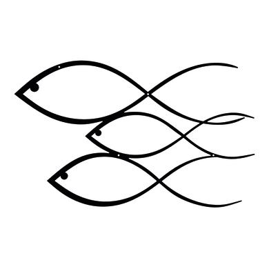 Decorazione da parete FISH 50x30 cm