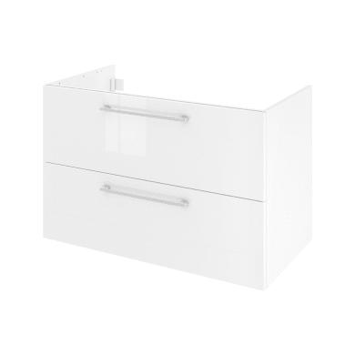 Mobile lavabo L 90 x P 48 x H 58 cm in agglomerato bianco