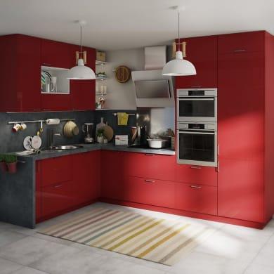 Cucina in kit DELINIA siviglia rosso L 255 cm